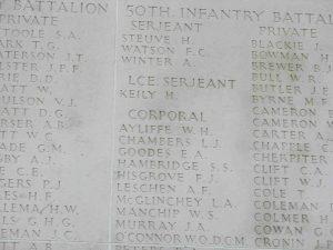 AYLIFFE, William Hawden (Army 6537), Villers Bretonneux 3