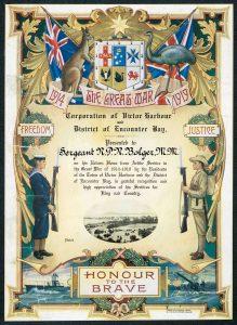 Sgt R P R Bolger Certificate