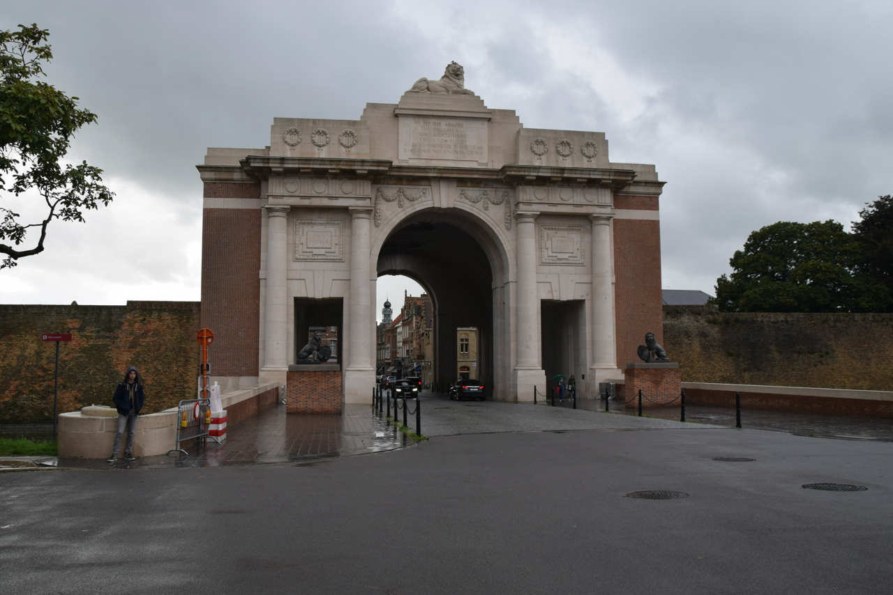 (3) CUDMORE, Milo Massey, Menin Gate Memorial view from outside the ramparts