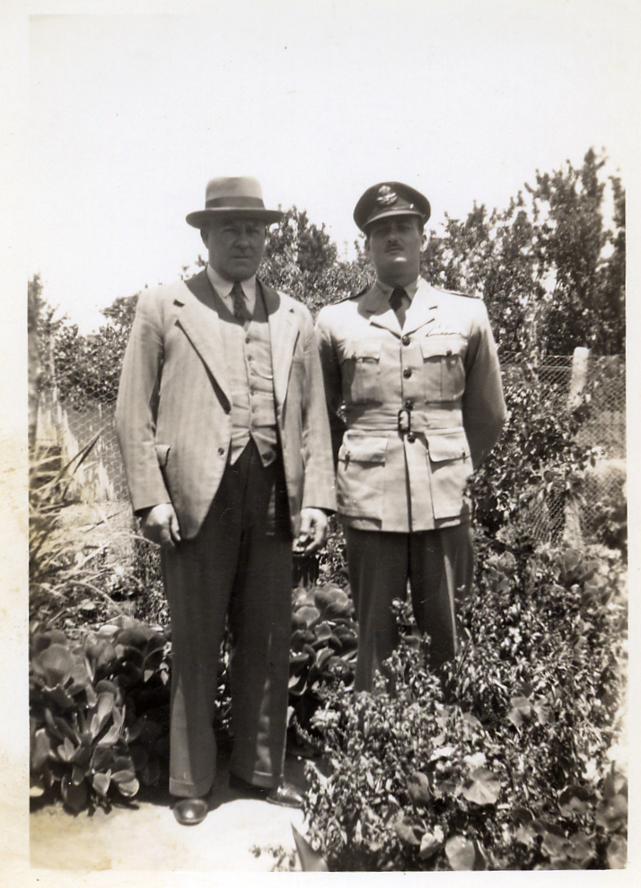 (4) DAVIS, Brendan John (RAAF 407225), at home on leave with father