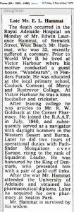 (10) The Times, 3 Nov 1972, death of Ned Hammat copy