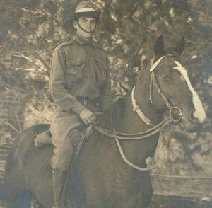 (2) HARDING, Vernon Alfred (S_N 1877), on horse
