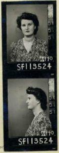 (2) HENDERSON, Millicent May (Army SF113524), Enlistment pic Millie