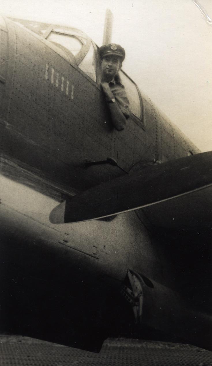 (2) NIGHTINGALE, Kevin (RAAF 407064), in cockpit of Beaufort