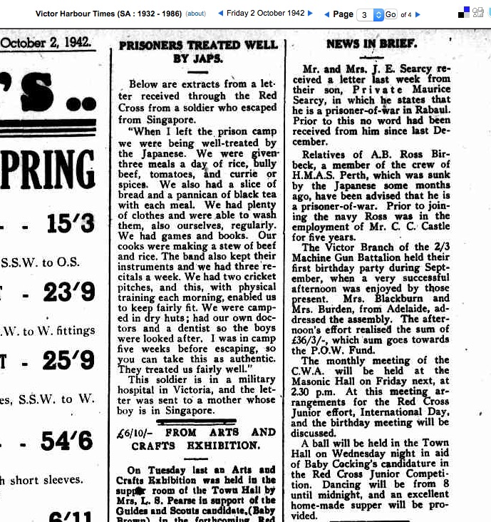 (2) SEARCY, Maurice Roffe (SX10212), The Times 2 Oct 1942 Pte M SEARCY copy 2