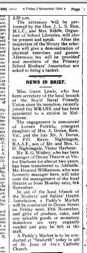 (3) LEWIS, Gwennneth (WR_2399) The Times 3 Nov 1944