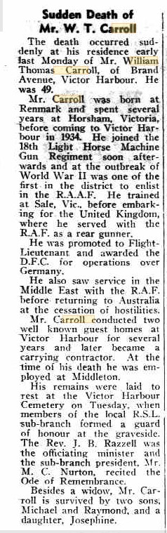 Extract from The Victor Harbor Times' edition of 5 August 1966;  from Trove Newspapers ( https://trove.nla.gov.au/newspaper/title/832 ).