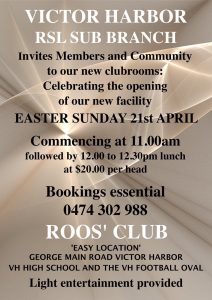 Easter Sunday official opening