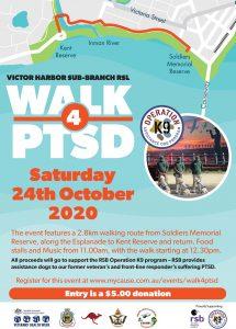 Walk for PTSD Victor Harbor October 24
