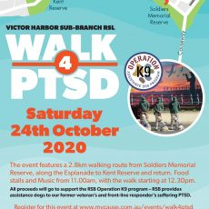 Walk for PTSD Victor Harbor October 24