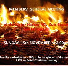 General meeting – Sunday, Nov 15